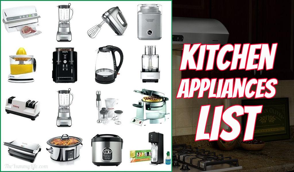 TOP 7 List of Kitchen Appliances - MyKitchenPick